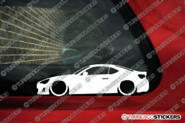 2x Low car outline stickers Toyota GT86 JDM